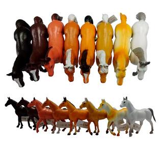 Caballos D/ Goma X6 Caballitos Juguete Animales Regionales