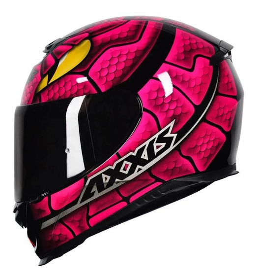 Capacete Axxis Snake Rosa Cobra Rosa