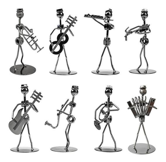Coleção 8 Músico De Porcas E Parafusos Em Metal Miniatura