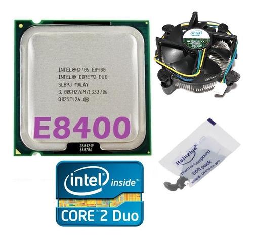 Imagem 1 de 10 de Processador Core 2 Duo E8400 6m 3.00ghz 1333mhz 775 + Cooler