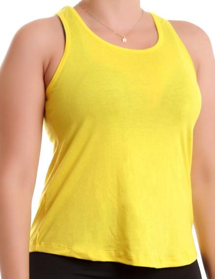 Camiseta Regata Fitness Feminina Ginastica S/estampa 9296