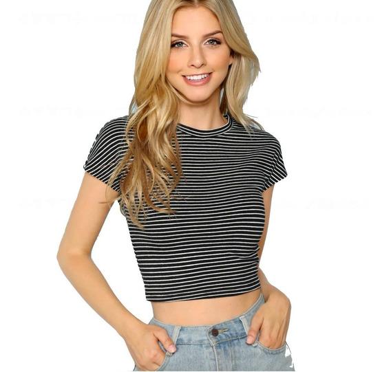 Blusa Mujer Camiseta Playera De Rayas