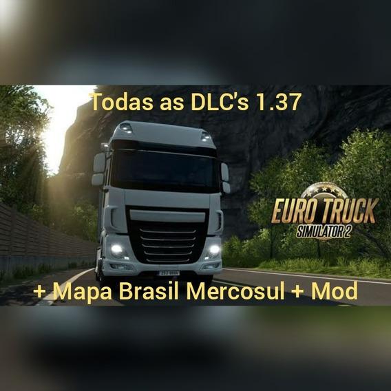 Euro Truck Simulator 2 Dlcs + Mapa Brasileiro + Mod 1.37