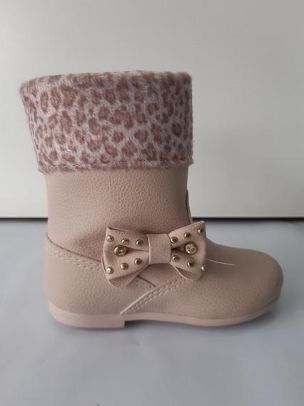 Bota Infantil Klin 168.001 Miss Fashion Rosa/onça 6138