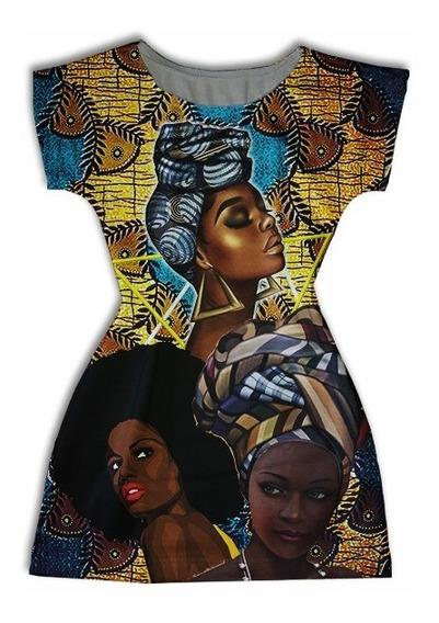 Vestido Adulto Manga Curta Personagens - Afro Maiduguri