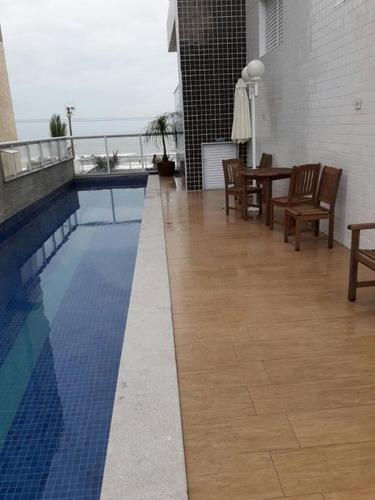 Total Conforto E Segurança Para A Família!!!! Excelente Apartamento Centro Mongaguá - Ap0048