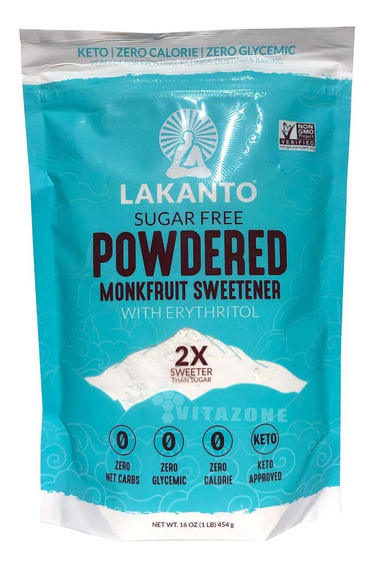 Lakanto Monkfruit Powdered 454 G Fruta Del Monje Keto