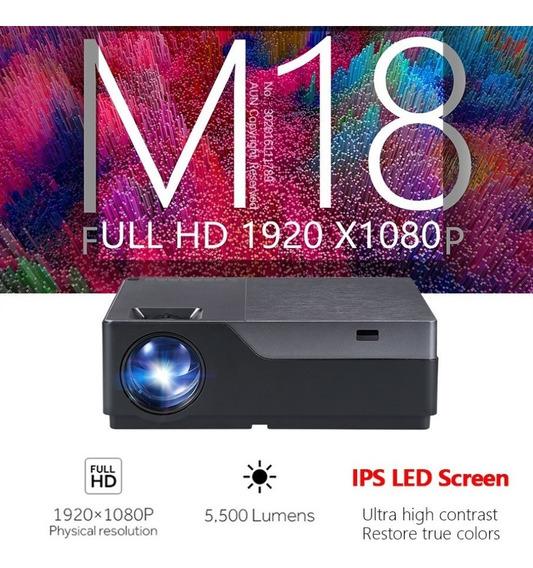 Projetor Full Hd, 3d, 5.500 Lumens, Aun M18, 300 Polegadas