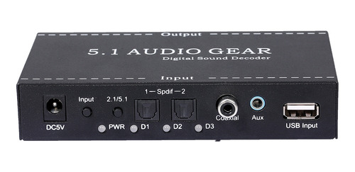 Nk-a6l 5.1 Audio Gear Digital Audio Decodificador De Sonido