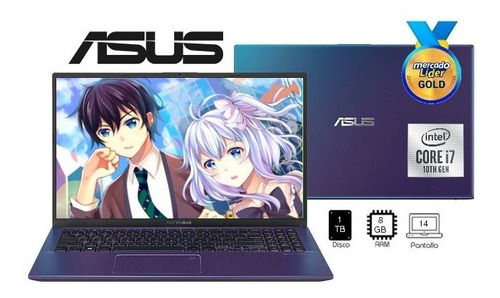 Laptop Portatil Asus Intel Core I7 10ma 1000gb/ram 8gb/14