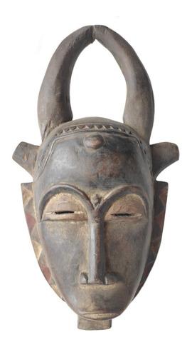 Máscara Africana Yaoure De Madeira