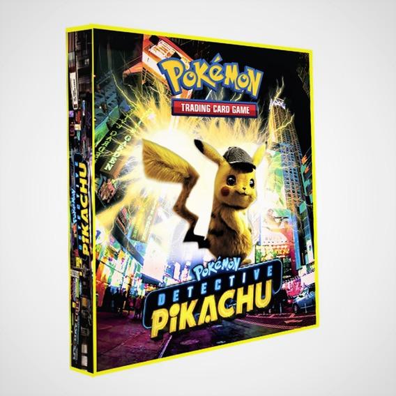 Pasta Fichário Álbum Pokemon + 05 Folhas + 6 Cards + Brinde