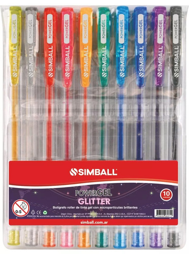 Simball 5126 Roller Power Gel Glitter X10