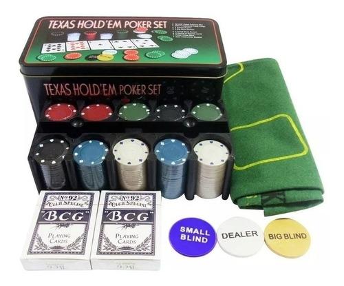 Fichero Texas Holdem Casino Style 200 Fichas Cartas Y Paño