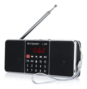 Rádio Zeepin L-288 Fm Estéreo Mp3 Player Tela Lcd Cor Preto