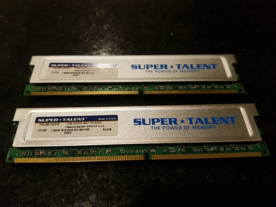 Memoria Super Talent Ddr2-667 Pc5300 2 X 1gb Precio Del Par