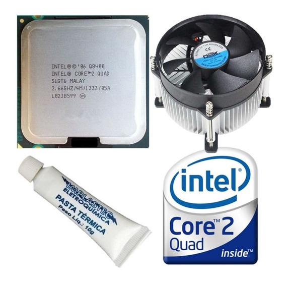 Processador Intel Core2quad Q8400 2.66ghz 4mb 775 + Cooler