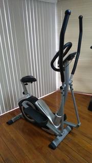 Elíptica Con Bicicleta Fija Magnética Dunlop Fitness Station
