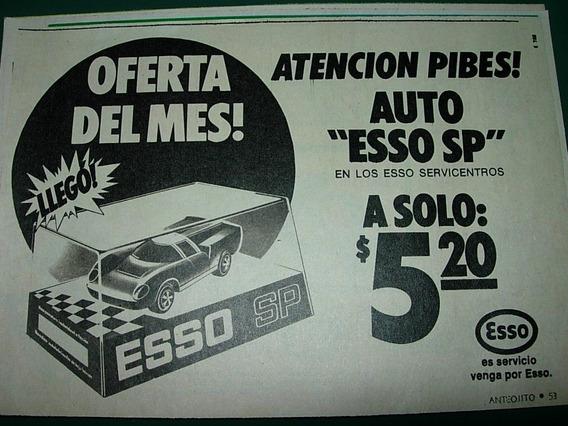 Publicidad Clipping Juguete Automovil Naftas Esso Sp Autos