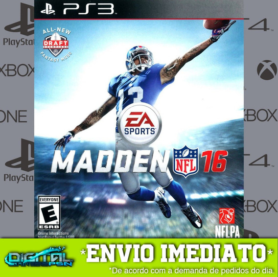 Madden Nfl 16 2016 Ps3 Psn Game Digital Envio Agora.