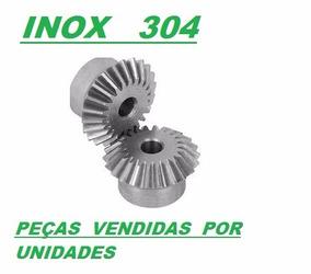 Engrenagem Con.retas Rel 1:1- Módulo 4 - Z30 - Inox 304