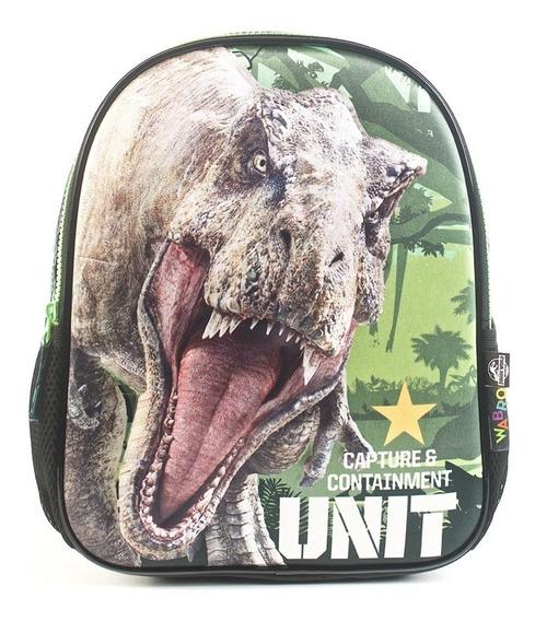 Mochila Espalda 12p Wabro 84025 Jurassic World Escolar Edu