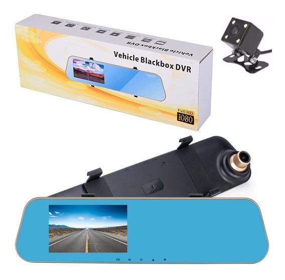Kit Espelho Retrovisor Tela 4,3 Lcd Câmera Frontal E Câmera