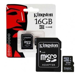 Memoria Micro Sd Kingston 16gb Clase 4