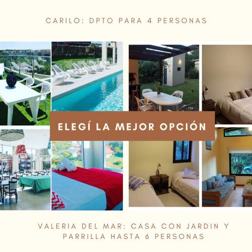 Alquiler Temporario Valeria Del Mar Y Cariló  6 Y 4 Personas