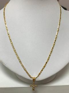 Colar Em Ouro 18k 5.6gr.47cm.modelo Cartier, Com Pingente