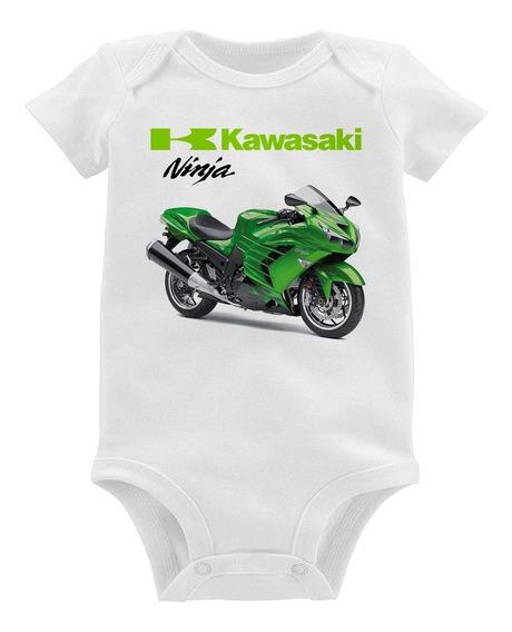 Body Bebê Moto Kawasaki Ninja Zx 14r Verde 2013