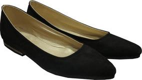 Zapatos Chatitas Punta Stiletto Mujer S Gamuza Talles Grande