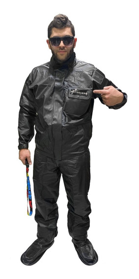 Traje Equipo Lluvia Motoquero Impermeable By Proter Fas Full