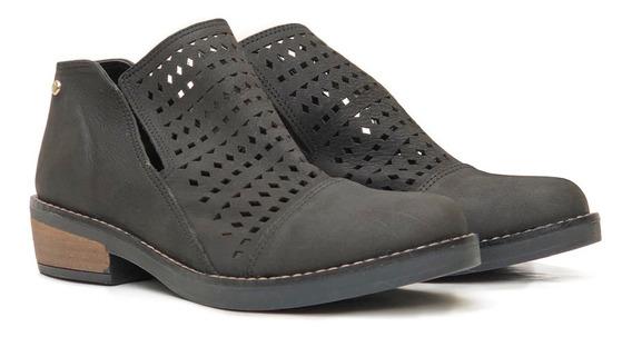 Zapatos Botas Botinetas Bajas Caladas Mujer Cuero Lala Heyas