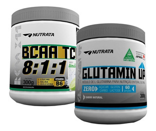 Bcaa 8:1:1 Com Tcm Nutrata 300g + Glutamin Up 300g Nutrata