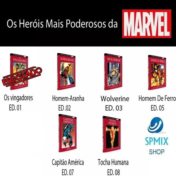 Kit Com 3 Os Heróis Mais Poderosos Da Marvel Graphic Novels