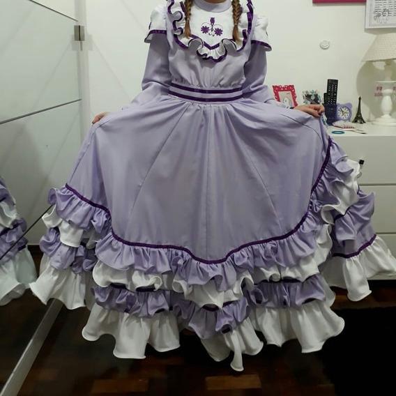 Vestido De Prenda 12 Anos Semi Novo