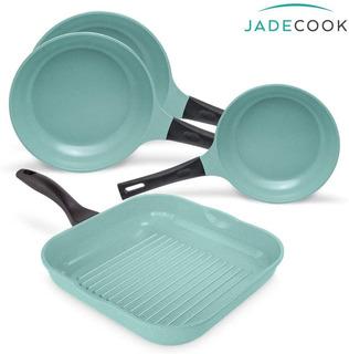 Jade Cook - 2 Sarténes 24cm, 1 Sartén 20 Cm Y 1 Sartén Grill
