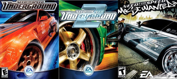 Need For Speed Underground 1 + 2 + Most Wanted Pc Digital
