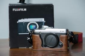 Camera Mirroles Fuji X-e2 Prata Com 6 Baterias Frete Grátis