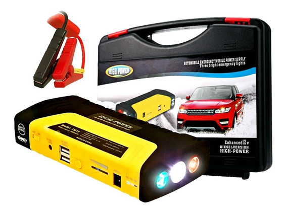 Auxiliar Partida Bateria Portatil Veicular Carro Emergência