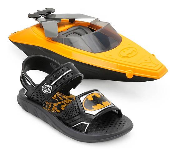 Sandália Batman Iate Batboat Infantil Preto E Amarelo 22148
