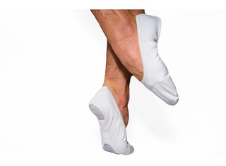 Zapatillas De Danza Media Punta Elastizadas Badanas Blancas