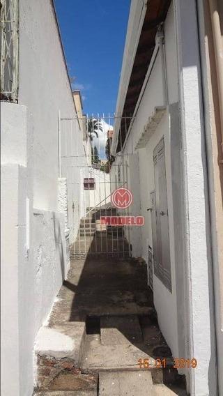 Casa Com 1 Dormitório Para Alugar, 65 M² Por R$ 600,00/mês - Alto - Piracicaba/sp - Ca2175