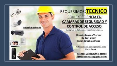 Empleo Técnico En Cctv, Alarmas Y Mas