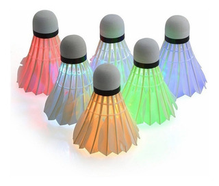 Led Luminous Shuttlecock Badminton Bolas 6 Pack