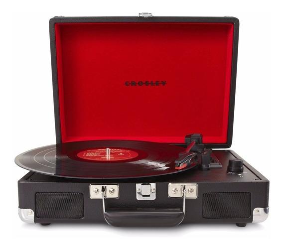 Tornamesa Crosley Tocadiscos Vinyl Tipo Maletín Negro