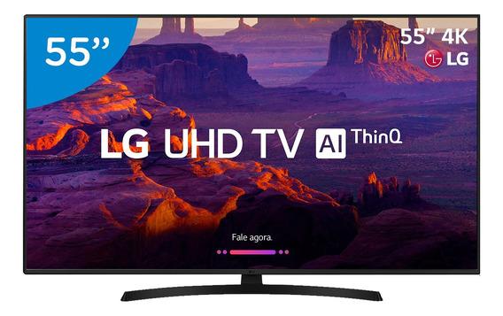 Smart Tv Led Lg 55 Ultra Hd 4k Com Suporte De Parede