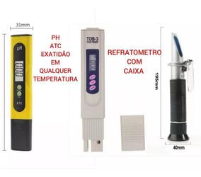 Refratometro Sanilidade + Teste Tds + Medidor Ph Digital