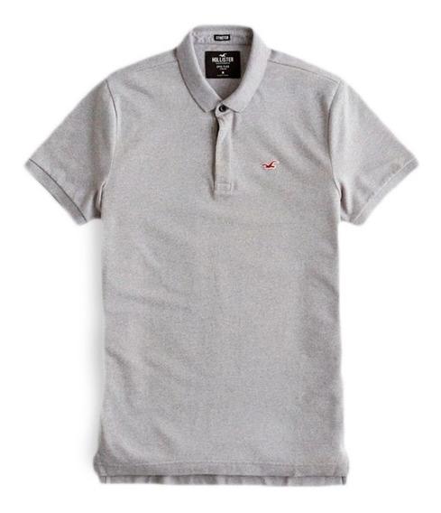 Camisa Polo Hollister Strecth Pique Icon Original Imp. Eua